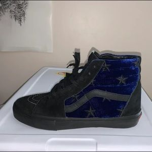 Supreme Blue Velvet Star Vans Sk8 Hi Pro